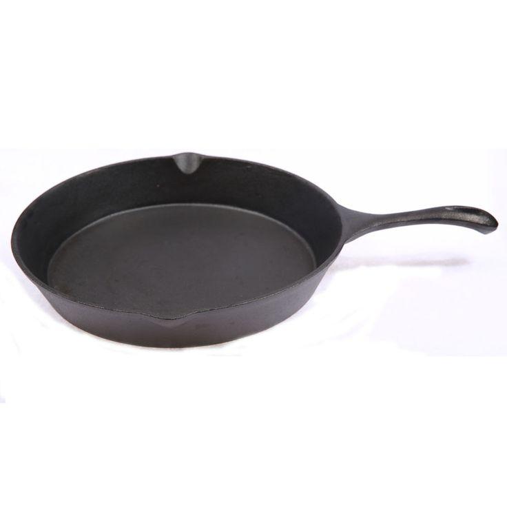 30cm cast iron skillet preseasoned coating frying pan