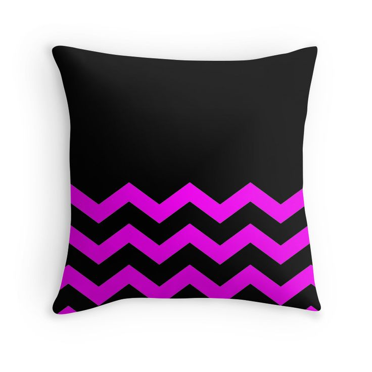 Beautiful Cushions/Chevron/ Black Pink