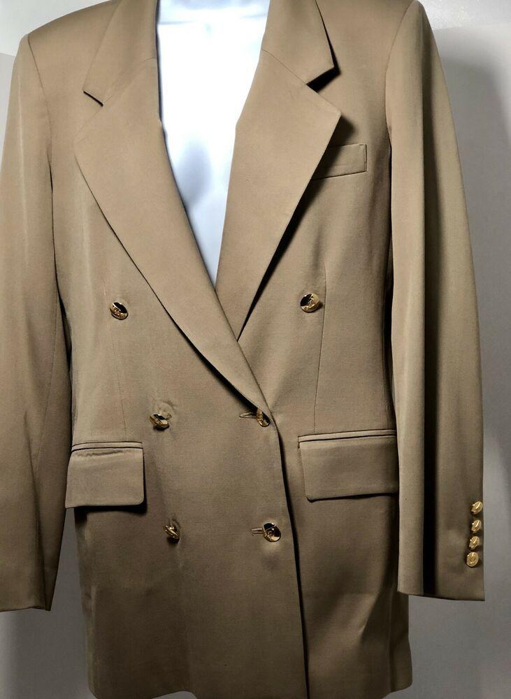 Vintage Austin Reed London Ny Women S Blazer Jacket Black Wool Size 4 Blazer Jacket Vintage Austin Blazer