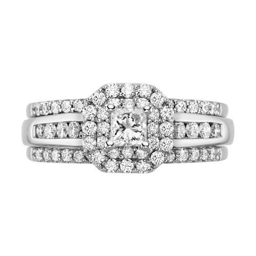 Diamond Three Piece Wedding Set