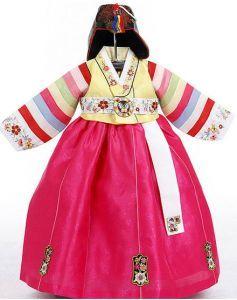 Baby girl's 1st hanbok - Short yellow top