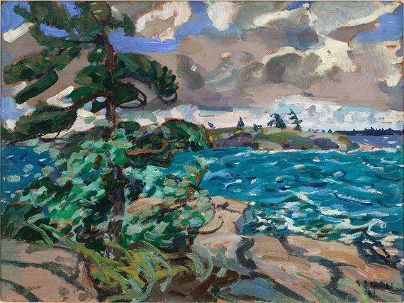 showmethe-monet: Arthur Lismer A September Gale, Georgian Bay 1921