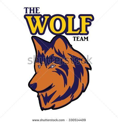 logo head wolf team