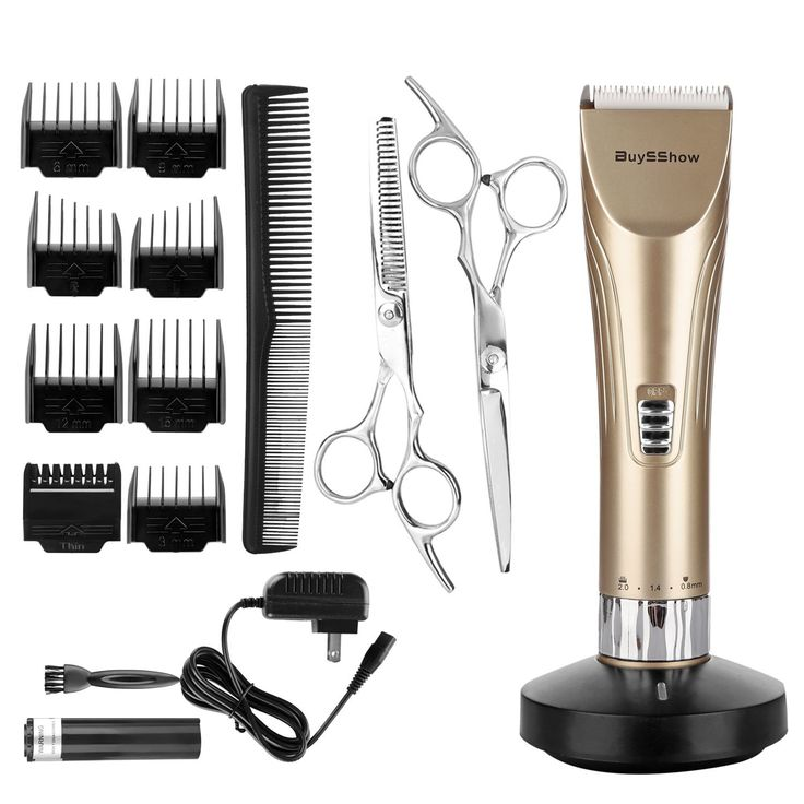 BuySShow Professional Hair Clippers for Men and Babies Quiet Barber Clippers Cordless Haircut kit with 2 Scissors 1 Hair Comb Charging Dock Home Barber kit ** This is an Amazon Affiliate link. Continue to the product at the image link.