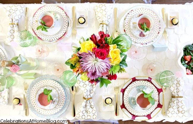 bridesmaid luncheon table top