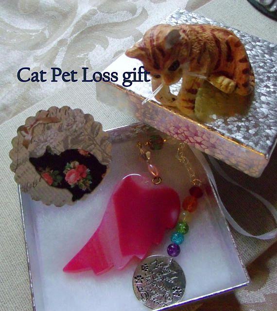 Cat zipper pullkitty bag charmsplatter blue glass beadChristmas stocking stufferpet keyring clipgift for herchild/'s gift