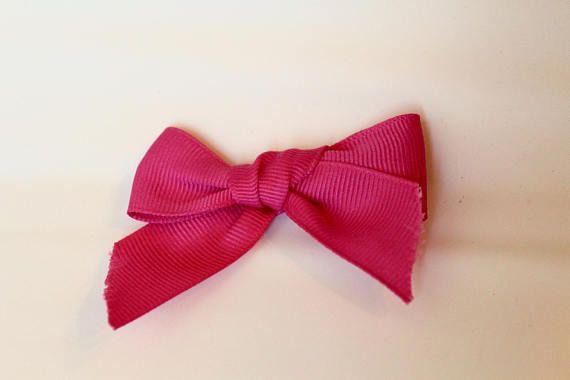 Pink Grosgrain Ribbon BowPink BowHandtied BowNylon band