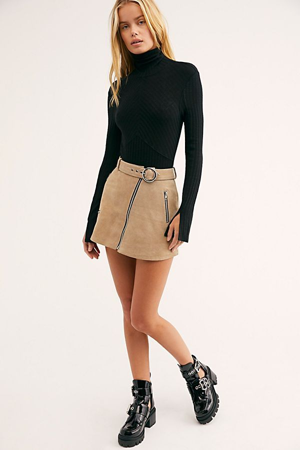 0fd65b2348 Moto Suede Mini Skirt in 2019 | l o o k b o o k | Mini skirt outfit ...