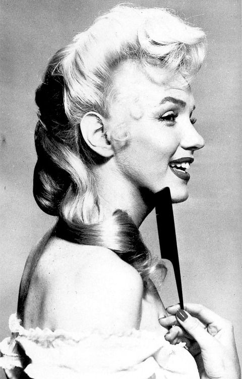Marilyn Monroe in a hair test for River of No Return, 1953.