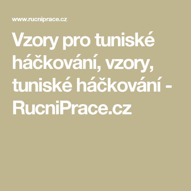 Vzory pro tuniské háčkování, vzory, tuniské háčkování - RucniPrace.cz