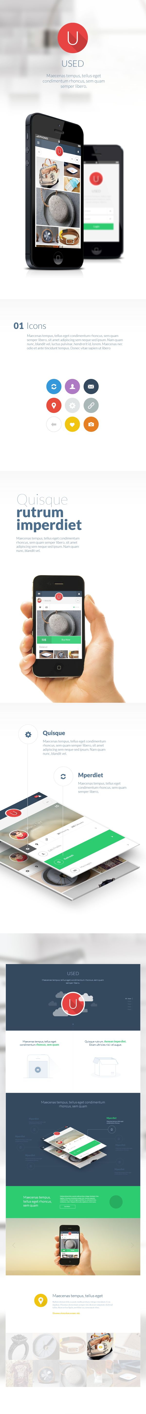 Used App by anas ibdah, via Behance