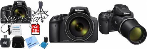 Nikon COOLPIX P900 16MP 83x Super Zoom Digital Camera Full HD Video Black...