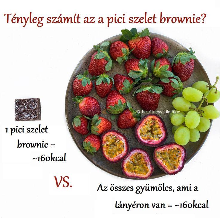 Tényleg számít az a pici szelet brownie? #brownie #fruits #süti #gyümölcs #kalória #elgondolkodtató || www.perjeskinga.com