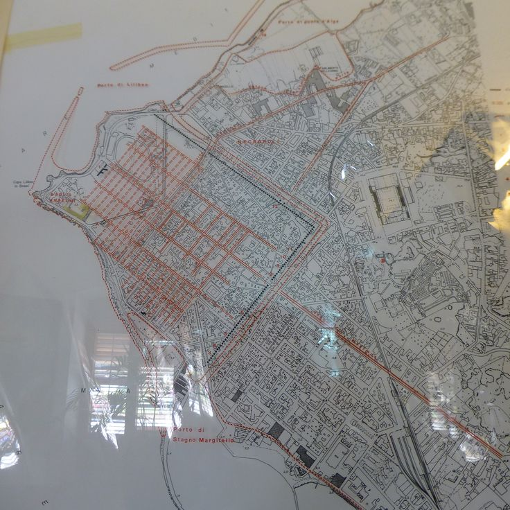 Overlaying of Lylibaeum on a map of Marsala.