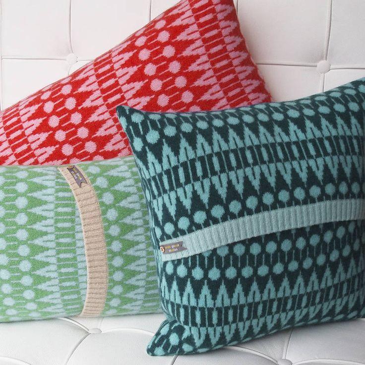 knitted folk cushion by seven gauge studios | notonthehighstreet.com