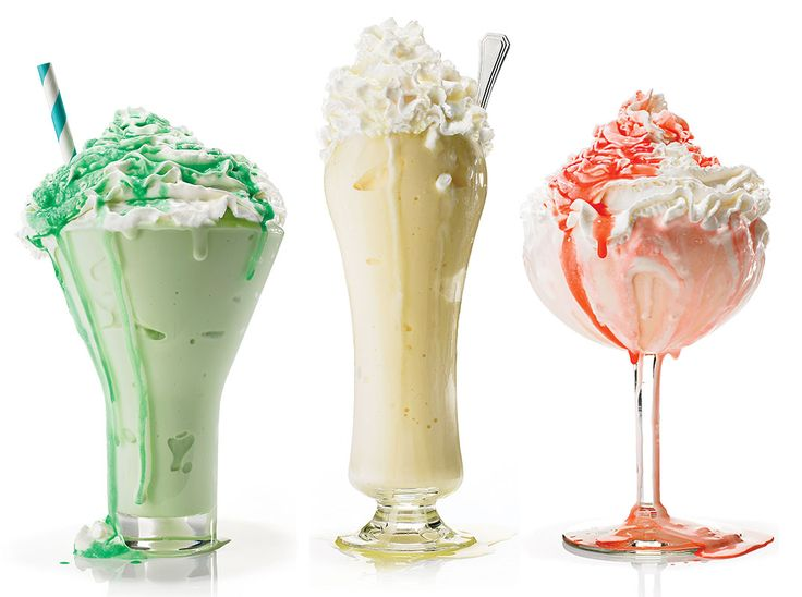 Wisconsin's ice cream cocktails - Minty Grasshopper, Golden Cadillac and the Pink Squirrel.