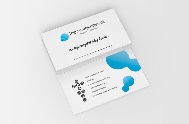 Tegnsprogstolken #businesscard with smart use of icons