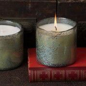 Bougainvillea- Himalayn Candle (Moss Green Glass)
