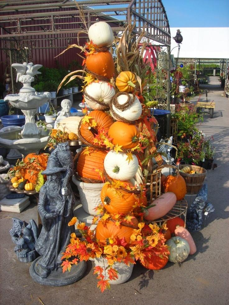 pumpkin topiaries pinterest halloween ideaspumpkin topiarytopiariesfall decorationsfall