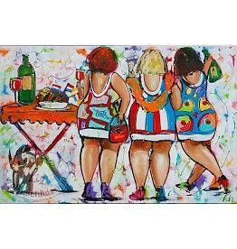 Vrolijk Schilderij Feestje