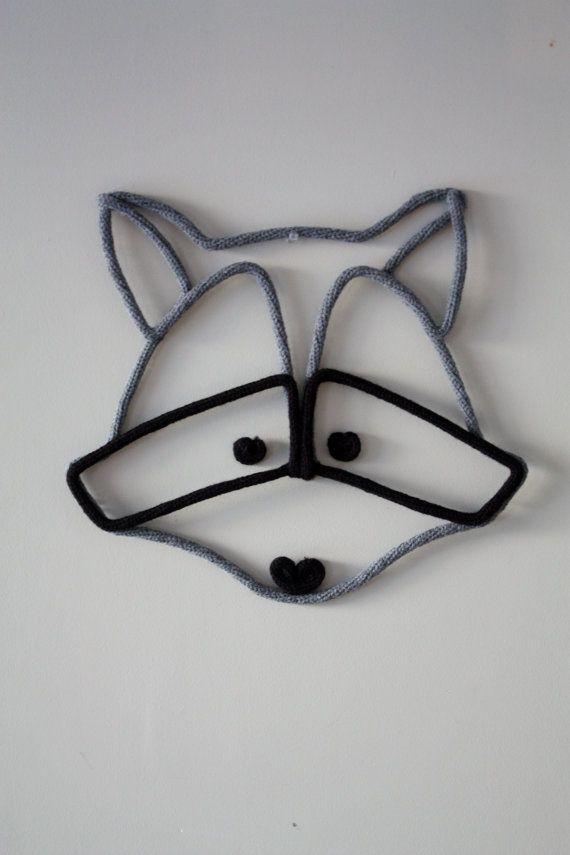 Le raton au tricotin  Décoration murale par TricoTiCota sur Etsy