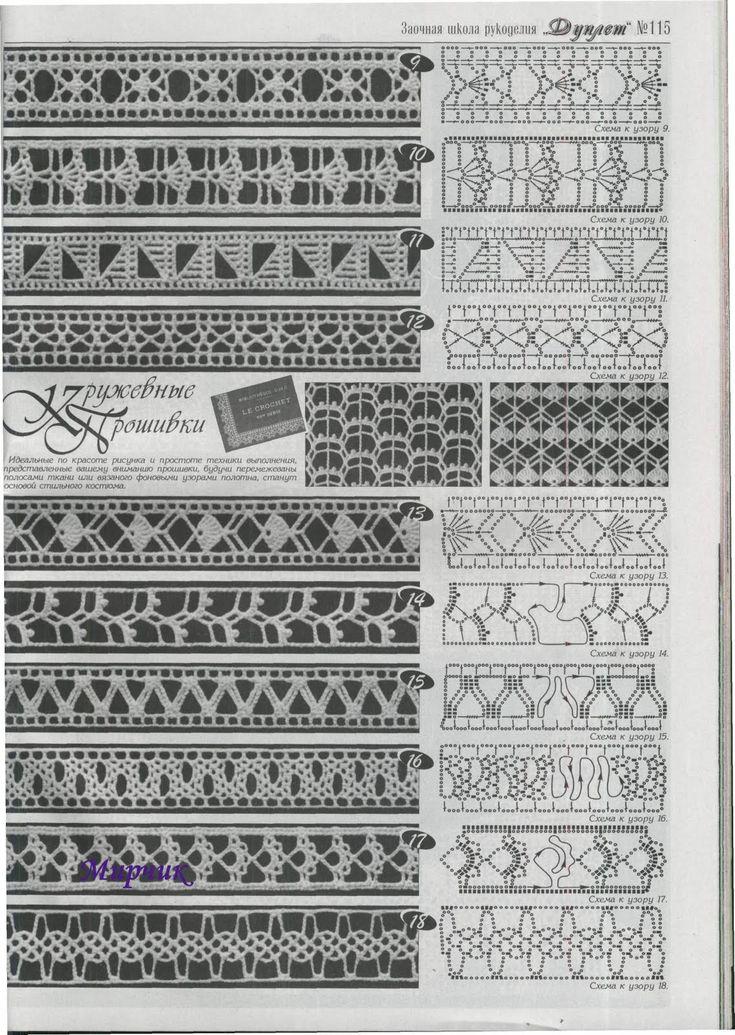 Häkelmuster Borte häkeln-  free crochet border pattern.......