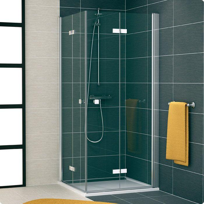 #Совет для организации интерьера маленькой ванной комнаты.  Сэкономить пространство можно установив душевой уголок со складными распашными дверцами. Он займает мало места, двери очень удобно складываются внутрь уголка, а прозрачное стекло визуально расширяет свободное пространство.  Обратите внимание на такие душевые уголки швейцарской марки Ronal SanSwiss коллекции Swing Line F-->https://goo.gl/gRkcaA…