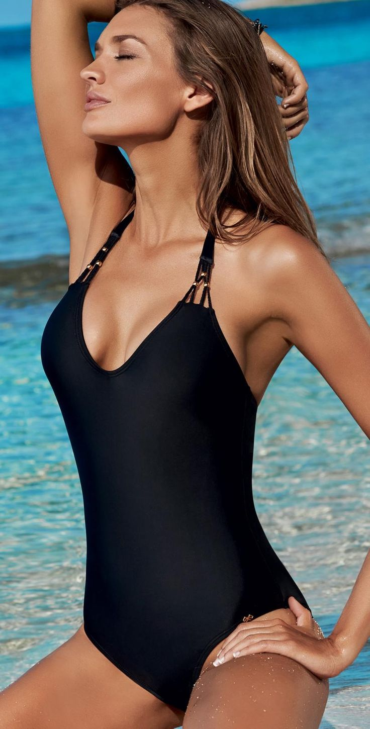 PilyQ 2014 Midnight Gold Black One Piece Bathing Suit | Southbeachswimsuits