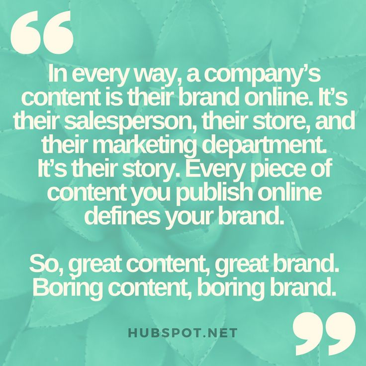 A company's content IS their brand #brandpersonality #branding #content #contentmarketing