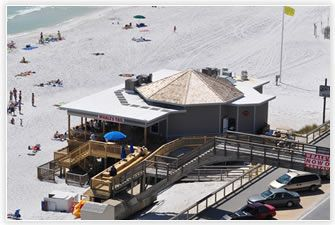 The Whales Tail Beach Bar & Grill, located directly on the beach at Seascape Resort, and newly renovated, has been a Destin landmark for over thirty years. The restaurant opens at 7:00 a.m. and serves breakfast, lunch and dinner every day. Dine indoors in climate controlled comfort or enjoy the refreshing ocean breezes on the deck. Either way, you cannot get any closer to the Gulf than this.