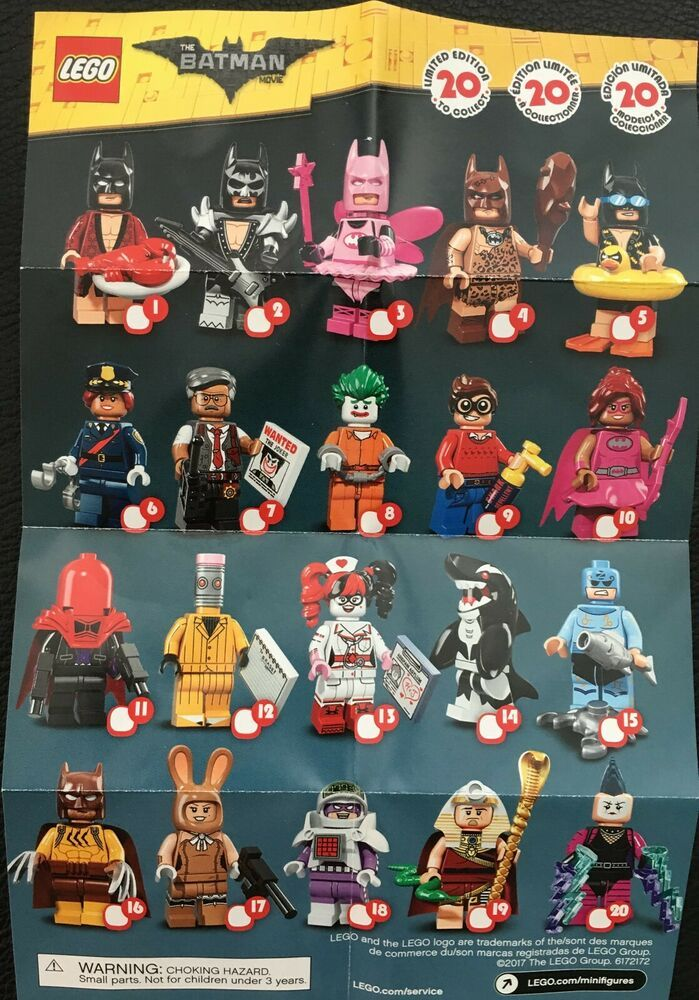 LEGO Batman Movie Series 1 Minifigures Complete Set of 20 LEGO 71017 Figures