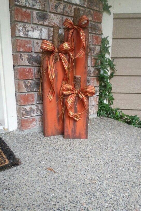 Paint, Ribbon, Raffia, A Branch, And Hot Glue.