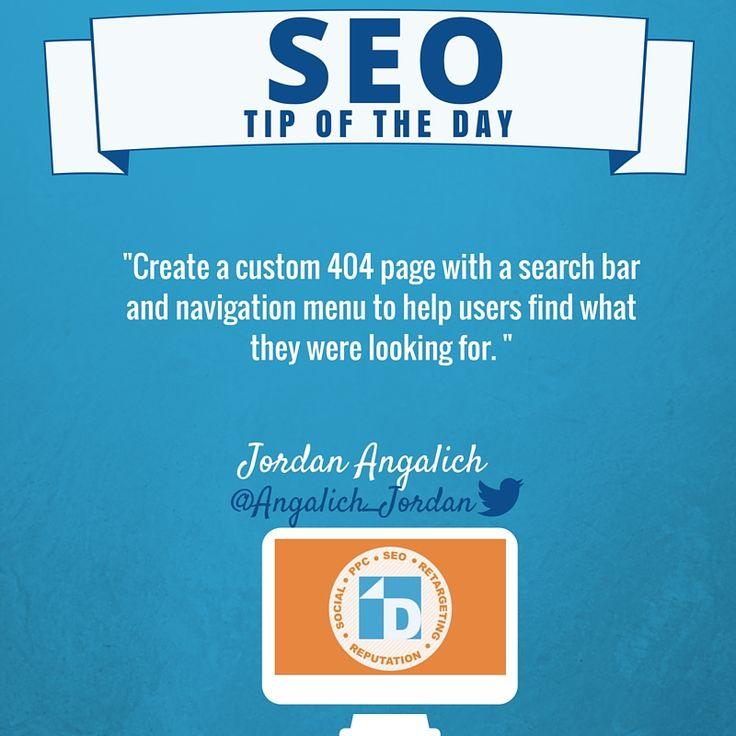 #SEO Tip from Jordan! Help users find what they are looking for this holiday season by creating a custom 404 page.