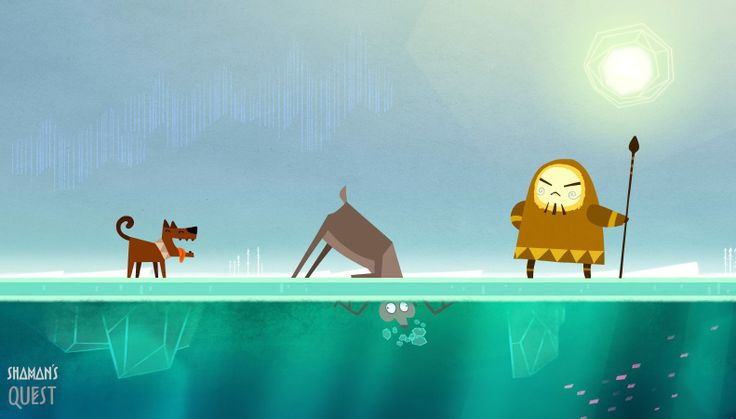 #character #concept #animation #dog #ice #deer #inuit