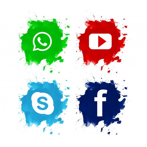 Download Beautiful Social Media Icon Set Design for free
