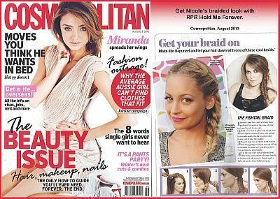 Achieve Nicole Richie's braided look with RPR Hold Me Forever - News - RPR Hair Care Pty. Ltd.