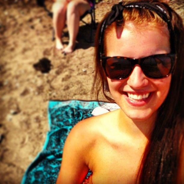 May 2-4 2012 beach, long hair, tan