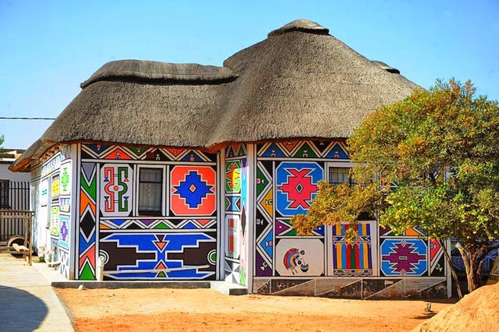 Ndebele house, day trip from pretoria, south africa