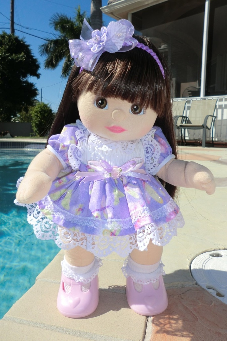 My Child Doll  --- Aussie Brown Eyed Brunette Baby Ooak With Special Heart T-Bars