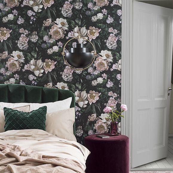 Papier Peint New Dawn Rose Collection In Bloom Borastapeter Decoration Chambre Romantique Decoration Chambre Salon Gris