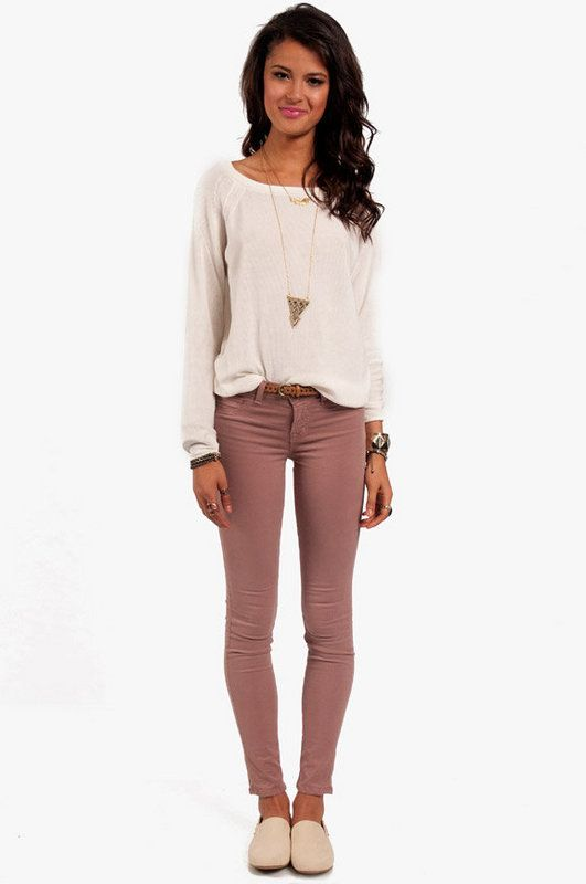 Colors Pants, Casual Outfit, Cute Cozy Outfit, Style, Colors Jeans, Clothing, Comfy Casual, Fall Outfit, Cute Outfit