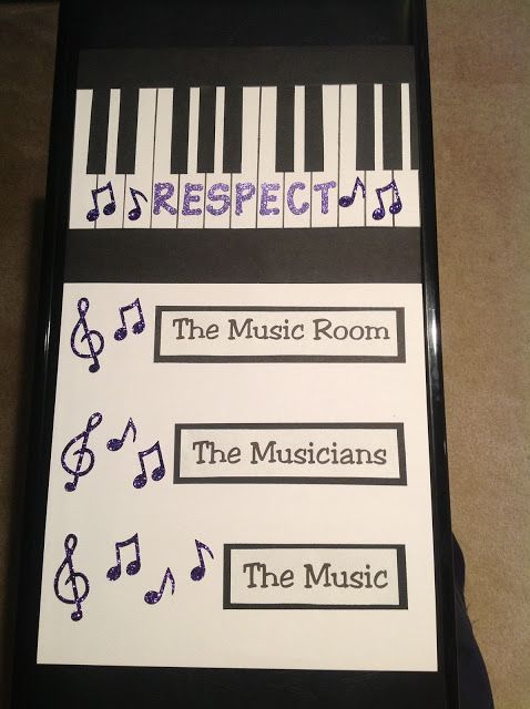Music Room Rules. Awesome. Our focus this year is Respect. It's all you need.