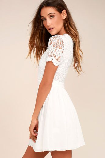 5a087081dcf9d Angel in Disguise White Lace Skater Dress   Wedding in 2019 ...