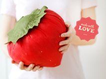 Große Erdbeere | Plüsch Stofftier Kuscheltier