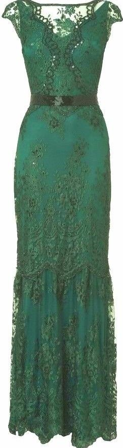 Green - House of Fraser Phase Eight Cindy Green Lace and Sequin Long Dress - http://www.shopstyle.com.au