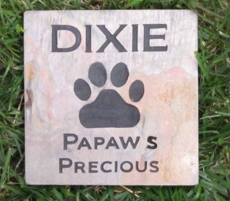 PERSONALIZED Memorial Stone Pet Dog or Cat Grave Marker 6 x 6 Inch Bur | Pet Memorial Stones Personalized Garden Pet Memorial Stones