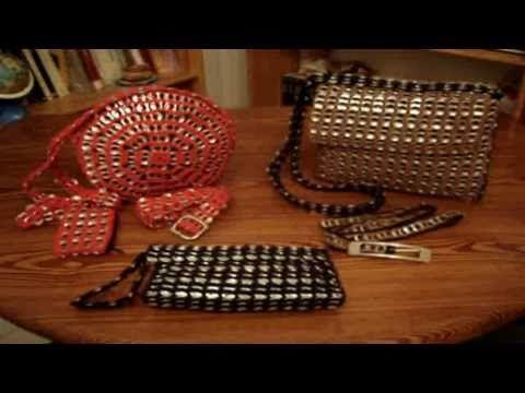 Bolsos de anillas de refresco bandoleras, de mano... - YouTube