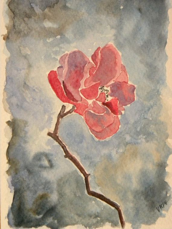 Frozen rose in Helsinki in November. Original painting by EarlyMorningWalk