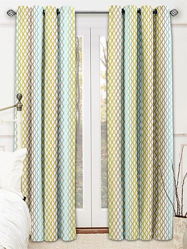 Twister Emerald Curtains from Curtains 2go