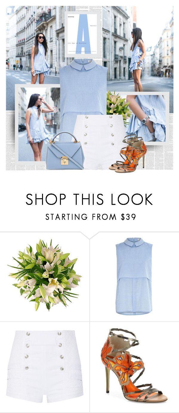 Blue ♥ by bklana on Polyvore featuring River Island, Pierre Balmain, Jimmy Choo and Mark Cross